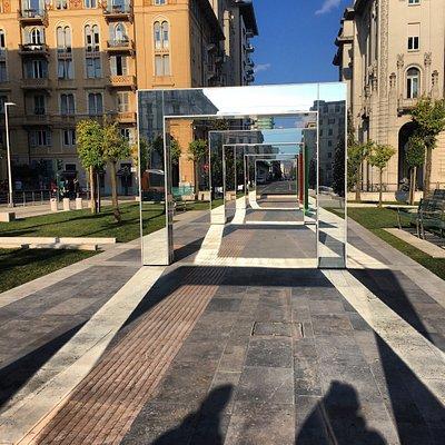 "Piazza Verdi dopo la cura "" Buren""..."