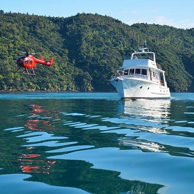 By sea, by air or both. We can organise a full day of adventure, scenery and local produce.