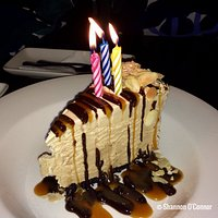 The Billy Miner Ice Cream Pie served as a great Birthday Cake for me and my wife on our birthday