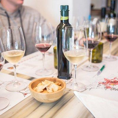 Wine tasting at the Tuscan Wine School