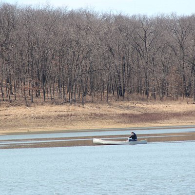 Nice canoe launch at the boat dock.