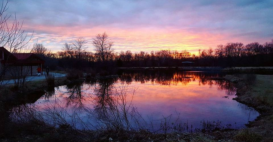 Sunset over Twin Lakes Recreation Area