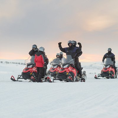 Snowmobile tour 2,5 hour, The Arctic light experience with Sorrisniva Safari