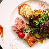 鎌倉野菜とメインプレート