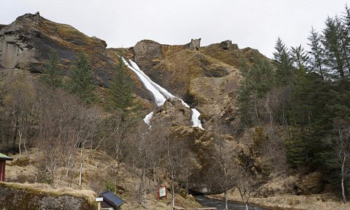 The waterfalls.