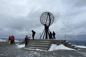 North Cape's sphere, great spot for photos.