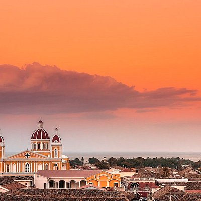 Granada as its being kissed by the setting sun