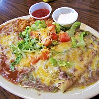 Enchilada plate, Junction Restaurant, Pagosa Spring, CO