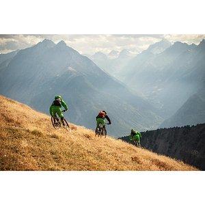 Sunset run with Aostavalleyfreeride Bike Guides