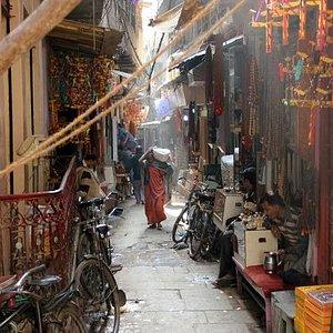streets in Varanasi
