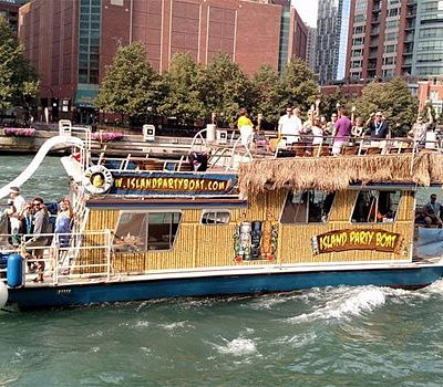 BIG KAHUNA party boat with water slide