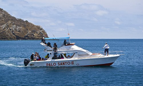 Boat Palo Santo II. Very comfortable and safety with top deck. Isla de la Plata. Snorkel. Turtle