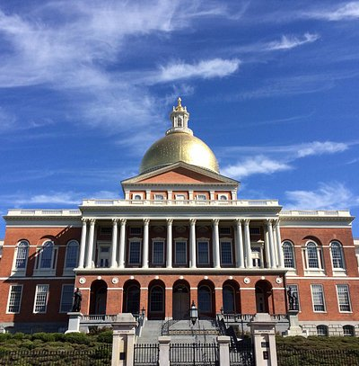 """Massachusetts State House, """"The Hub of the Solar System"""""""