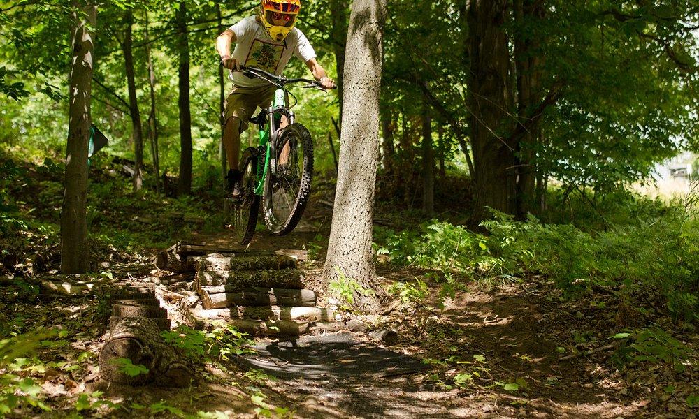 Downhill mountain biking at Crystal Mountain