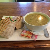 Deluxe Chicken Wrap with Yellow Curry Chicken and Rice Soup