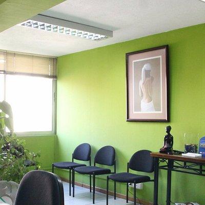 Amplia sala de recepción