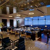 A stylish bar with views over the Arabian Gulf
