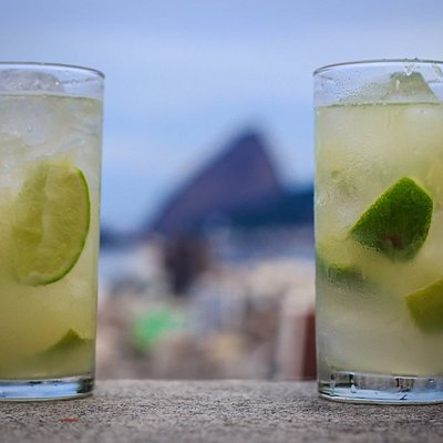 Caipirinha with view of the city