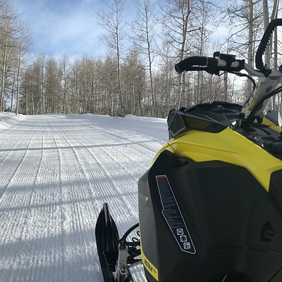 Fresh Groomed Trails on the brand new Skidoo 850