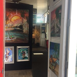 This is the first art gallery in Kauai !!!!! It's a hidden treasure, if you want to buy art whil