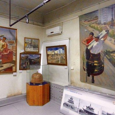 Soviet era paintings of Mongolia, in UB City Museum