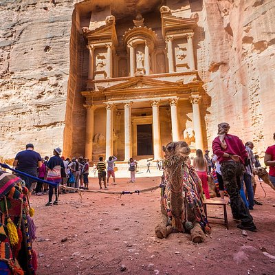 Petra, the famous rock city, is located in the south of Jordan, and was created by the Nabataean