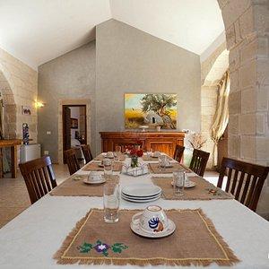 Breakfast Room at the Agriturismo Costarella