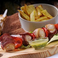 Espetada de Frango com Bacon