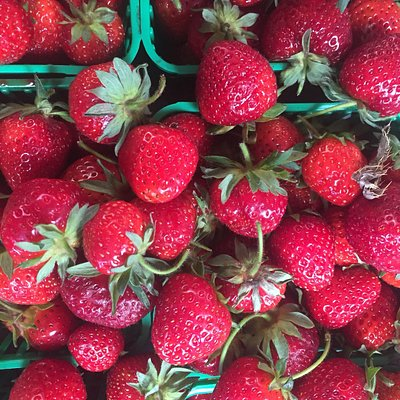 Strawberries from our farm. Or Pick Your Own at Reesor's Farm Market.