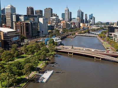 Stunning views down the Yarra River