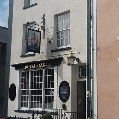 The Royal Oak main entrance on Copse Road