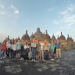 Story Morning Glory at Borobudur Temple