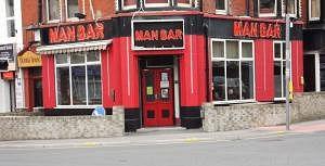 Outside Man bar Blackpool