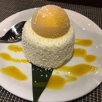 Coconut and Mango Dessert