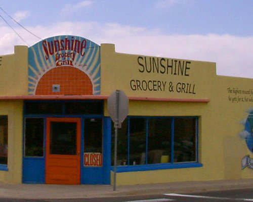 Built in 1918 the  Historic Sunshine Grocery on Mesquite St.
