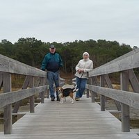 Uncle Tim's Bridge over Duck Creek to Cannon Hill Park, Wellfleet, MA