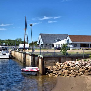 Boat ramp and restaurant