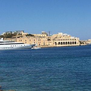 Marvelous views from the Strand Sliema Malta. Nice sunny day, calm deep blue sea.