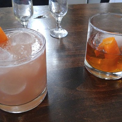 Jack Rose (left) & Old-Fashioned (right)