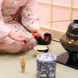 Presenting tea ceremony