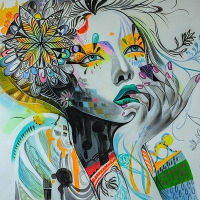 Pop Arts Painting - Lady