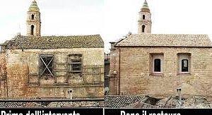 chiesa di San Nicola , prima e dopo il restauro