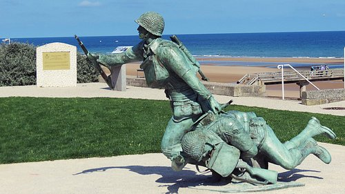 A site in the Vierville Draw - Omaha Beach where the29th Div. landed on D-Day...