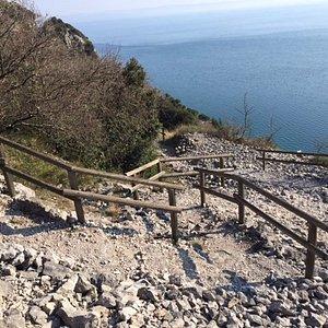 Il sentiero che scende verso il mare