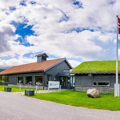 Museet fekk nytt servicebygg i 2015 med butikk og kontorlokale.