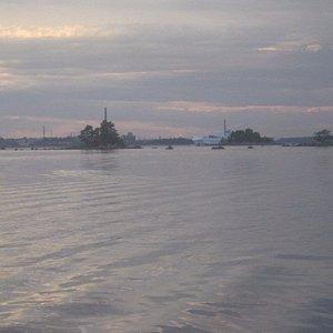 Näkymä saarelta Kotkan suuntaan