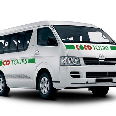 An 8-passenger Cooctours van