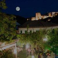 Localización El Trillo Restaurante Granada Vistas Alhambra desde Terraza Superior