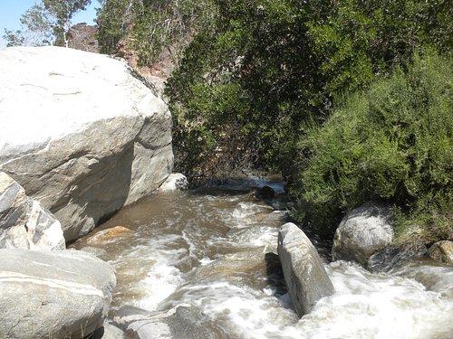 Downstream from a footbridge