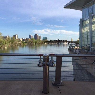 Bridge over city view